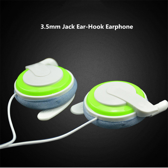 QearFun Ear Hook Bluetooth Wired Earphone 3.5mm High Sound Quality Sport Earphones Fast Link Music For Mobile Phone Headset