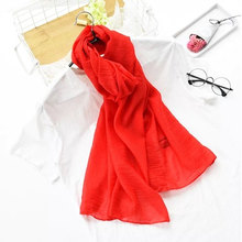 1 pc color Winter Fashion Style Silk Scarves Organza Long Luxury Shawl For Woman