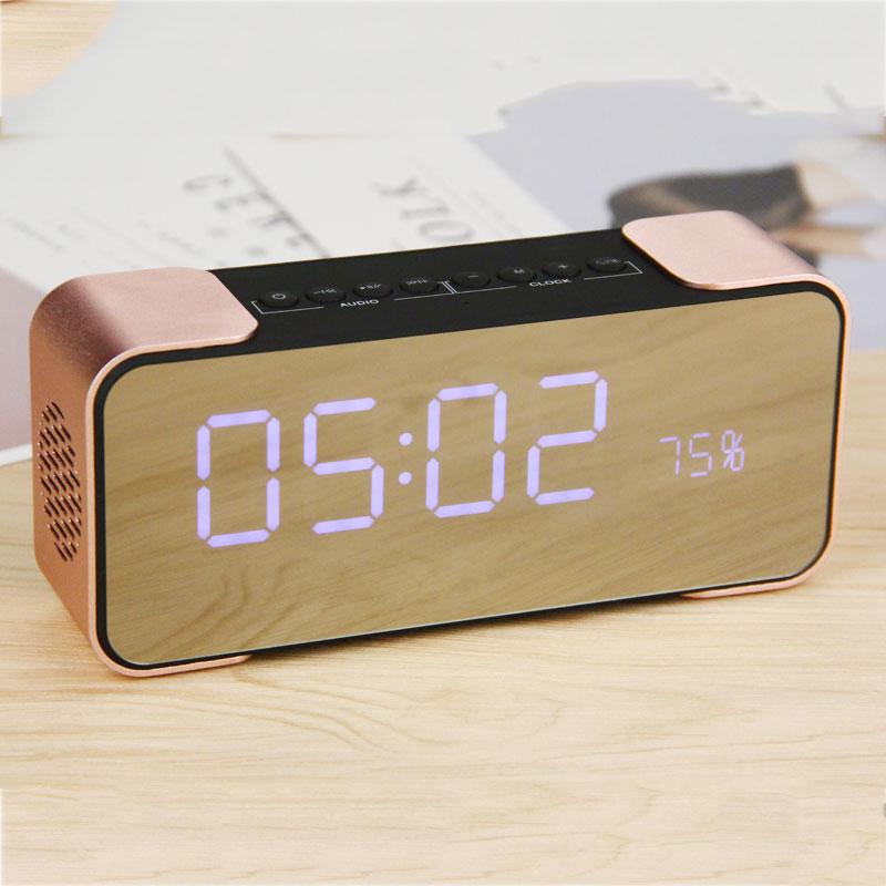 Wireless Bluetooth Speaker Portable Stereo Music Player PTH-305 FM Radio Altavoz Speakers Support TF Time Clock Alarm Sound Box