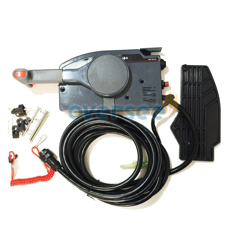 OVERSEE remote control box 703 48203 17 With 7 Pin Cable For Yamaha Outboard Remote Control