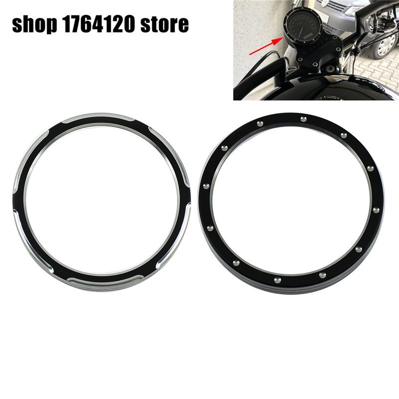 Motorcycle Asterism Billet Bagger Speedometer Trim Bezel Black For Harley Sporster XL883 1200 Dyna Street Bob