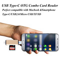 USB Type-C 5 in1 OTG Combo Card Reader USB2.0 Micro USB TF SD Type C Adapter for New Macbook Smartphone PC