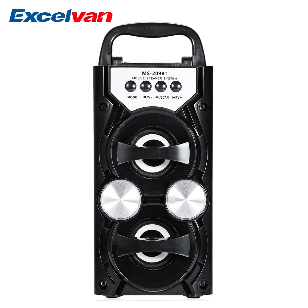 Generous Excelvan Ms-209bt Portable Speaker Wireless Bluetooth Speaker Fm Radio High Power Output Aux Tf Usb Music Speakers Loudspeaker Portable Speakers