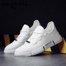 Whoholl Men Shoes 2018 New Hot Spring Autumn Mesh Breathable Casual Flats Comfortable Sneakers Vulcanize