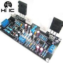 Placa amplificadora de classe a, conjunto diy/acabado, 1 peça, referência, fidelidade musical a1, classe a, componentes discretos, 20w placa de placa