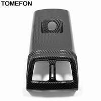 TOMEFON For Hyundai Tucson 2019 Rear Armrest Air Condition Vent AC Outlet Panel USB Cover Trim Interior Accessories ABS Carbon
