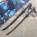 15cm League of Legends LOL Wind Sword Yasuo Weapon Keychain LOL Bronze Alloy Weapon Sword Pendant Key Ring Keychian Within Box