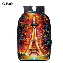 Ou Mo brand Print letter feminina backpack Mini Bag Women man laptop anti theft middle School student Schoolbag