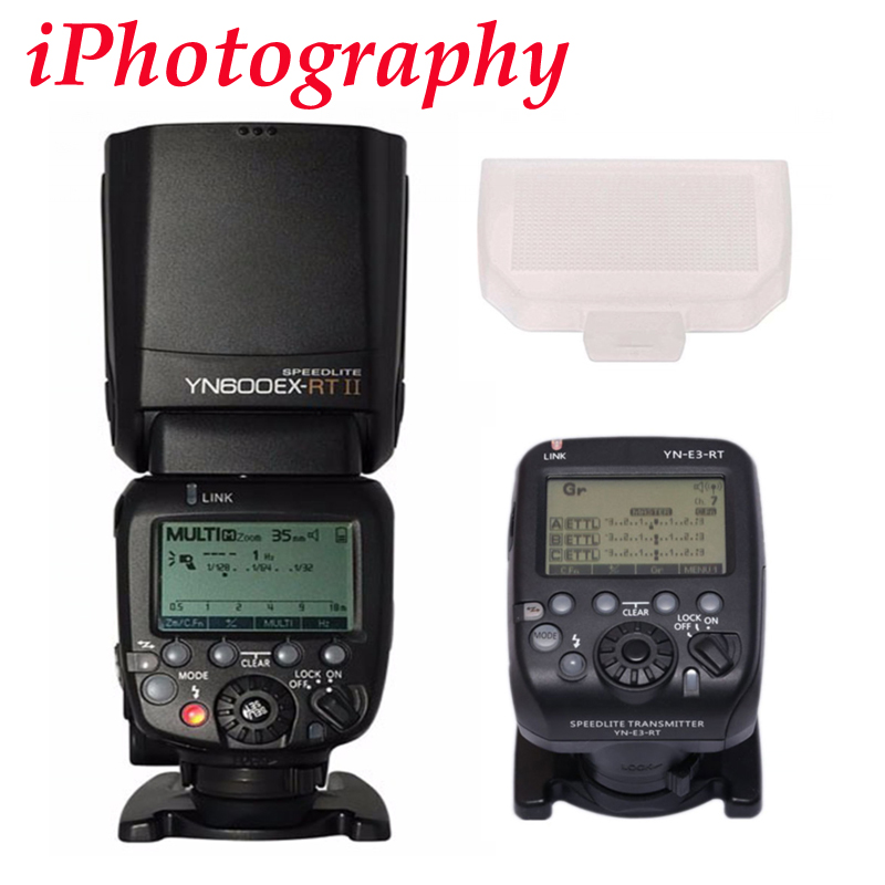YONGNUO YN600EX RT II fit for YN E3 RT Wireless Flash Speedlite with Optical Master TTL