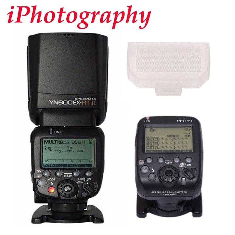 YONGNUO YN600EX-RT II fit pour YN-E3-RT Sans Fil Flash Speedlite avec Optique maître TTL HSS pour Canon 1200D 80D 6D 7D 5D mark IV