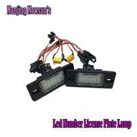2PCs White Light 18 Leds 12V SMD 3528 License Plate Lamp For Porsche Cayenne For VW