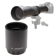 JITNU 2X Teleconverter Lens for 650-1300mm 420-800mm 900MM Telephoto Telescope Lens + Free Carry Case