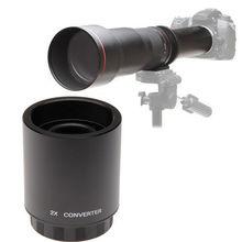 Buy JITNU 2X Teleconverter Lens for 650-1300mm 420-800mm 900MM Telephoto Telescope Lens + Free Carry Case