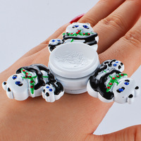 2017 New Tri Spinner Fidget Panda Toy Electroplated EDC Hand Spinner Anti Stress Reliever And ADAD