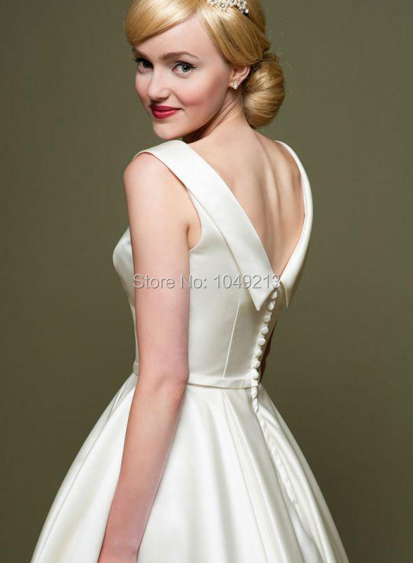 Short Vintage-Inspired Wedding Dresses