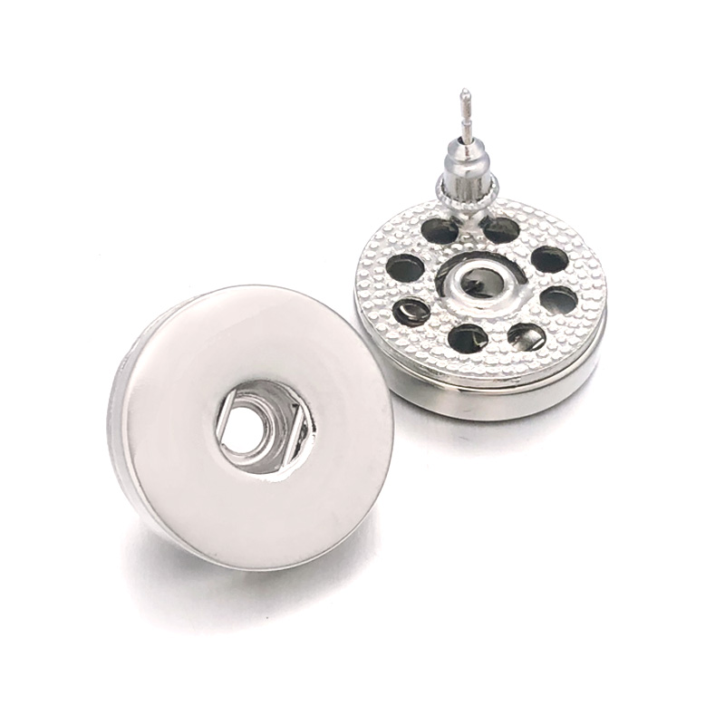 Fashion 027 Fashion Bohemia Cute Fit 12mm 18mm Snap Button For Women Charms White K Plated Design Snaps Earrings Jewelry Gift image