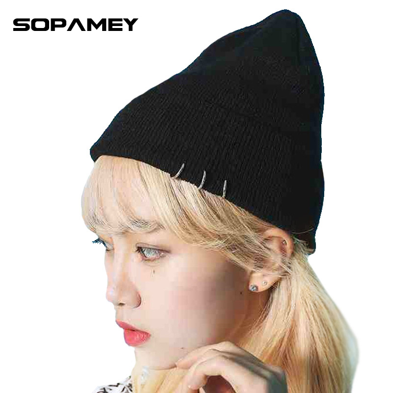Brand Hoop Skullies Beanies Autumn Winter Warm Hat Braided Soft Knitx Men And Women Hedging Cap Women Knit Cotton Winter Cap skullies