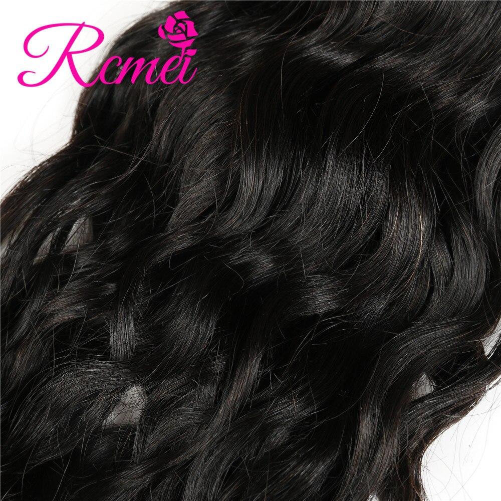 Rcmei Малайзии необработанные Virgin волосы курчавые пучки натуральный черный 3 шт./лот 100% человеческих Инструменты для завивки волос 12-30 дюймов ...