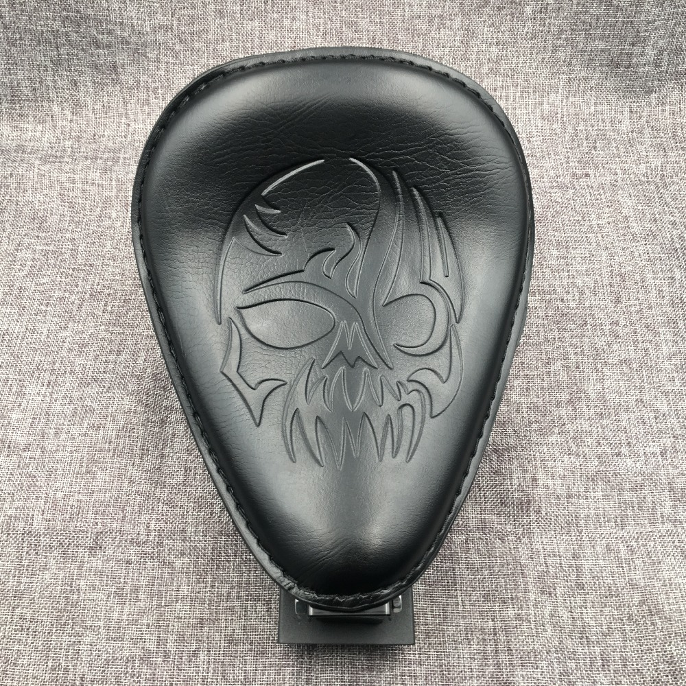 Newest Motorcycle Skull Brown Leather 3