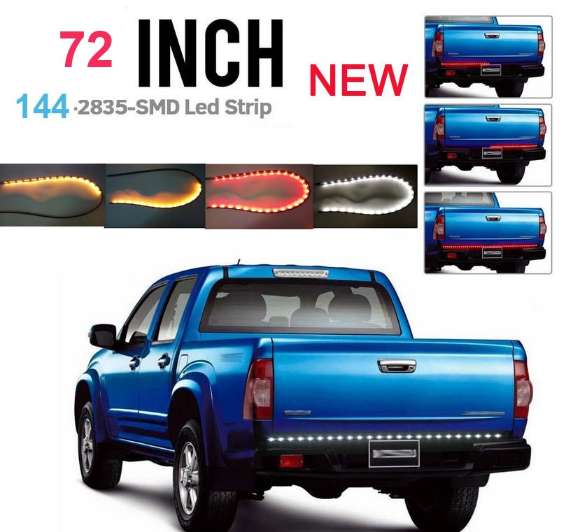 72 inch Red/White/yellow Tailgate Light Strip Bar NEW GEN 144 LEDs for Reverse Running Brake Turn Signal for Pickup Truck SUV вагонка имитация бруса 20х135 141 х3000мм уп 5шт сорт ав