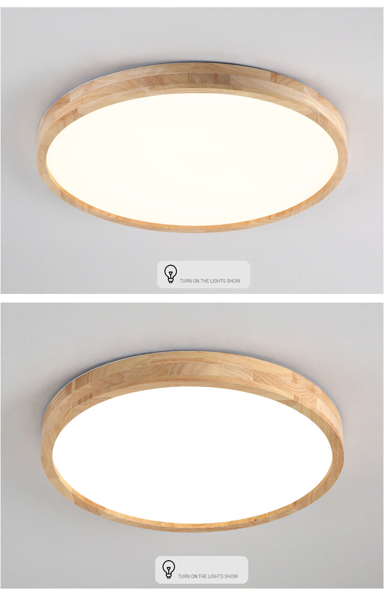 Led Ceiling Lamp Ultra-thin Round Simple Wood Modern Fixture Recessed Decoration Ture 100% Guarantee Lights & Lighting