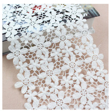 Wide 21CM Soluble Lace Trim Top Knitting Wedding Embroidered Diy Handmade Patchwork Ribbon Sewing On Supplies Crafts недорго, оригинальная цена
