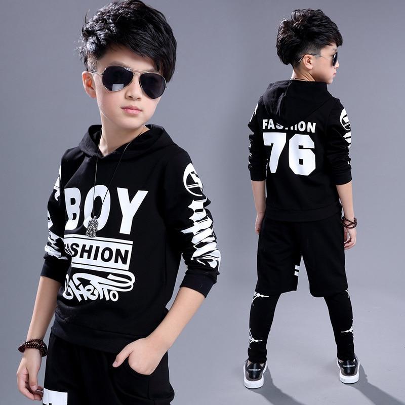 Podzimní část nového chlapeckého módního cool hip-hopového - Dětské oblečení