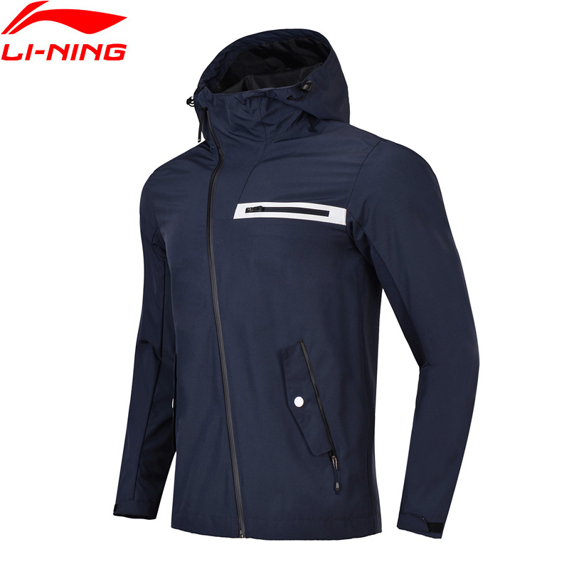 Li-Ning Men Outdoor Windbreaker Regular Fit 100% Polyester AT PROOF SMART Waterproof Coat LiNing Sports Jackets AFDN029 MWF358 li ning men wade short down jacket at proof wind comfort lining winter jackets aymm183 mwy267