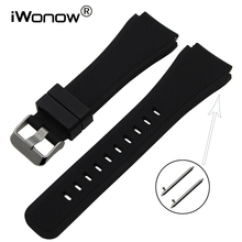 Quick Release Silicone Rubber Watchband 21mm 22mm for Hamilt