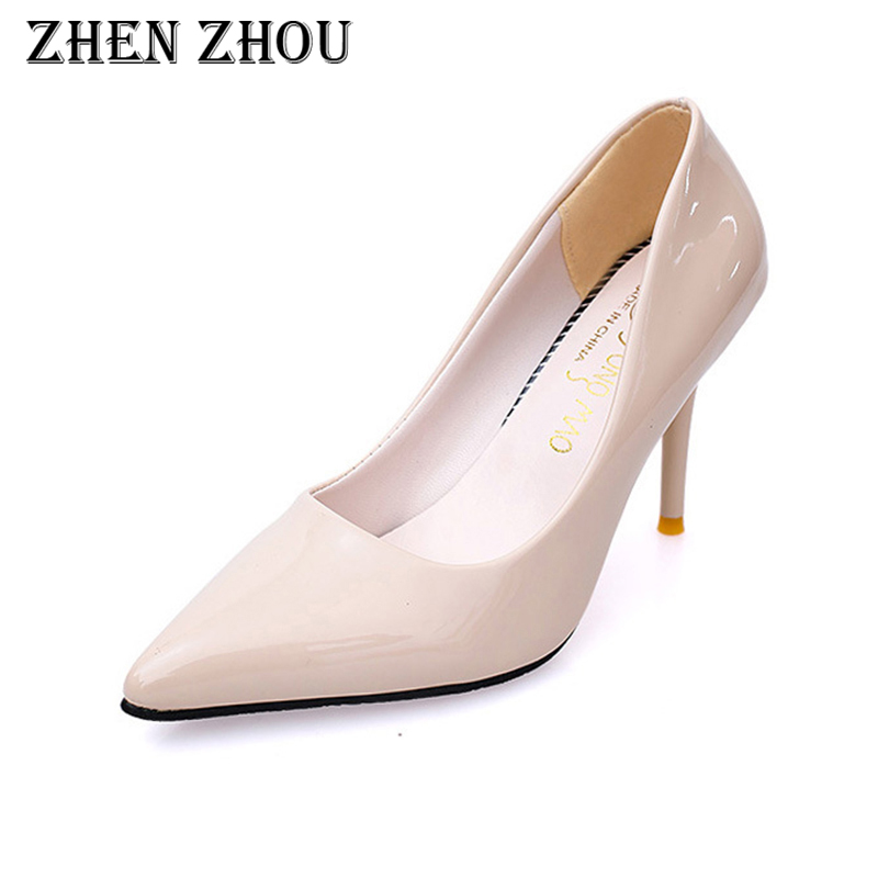 escarpins femme 2018 autumn fashion new style pointed toe sexy heel shallow women single shoes Fine with high heel shoes spring and autumn new retro princess pointed high heeled shoes women shoes shallow mouth fine with sexy elegance xxxy f 168