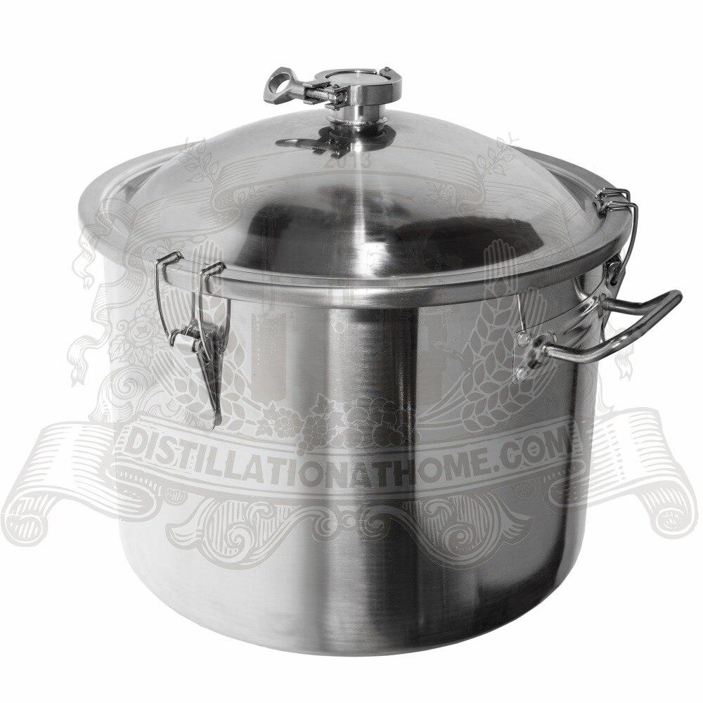 Tank for distillation Boiler Distillery tank 25L 5 5 Gal 1 5 tri clamp stainless steel