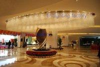 Пятизвездочный отель проекта Освещение производителей большой кристалл большой декоративный светильник лобби крупнейших потолочный свет