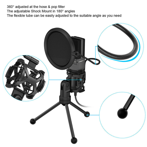Yanmai SF777 USB Condenser Microphone Kit Podcast Studio Microfone Plug and Play Streaming Mic for PC Laptop YouTube Gaming Karachi