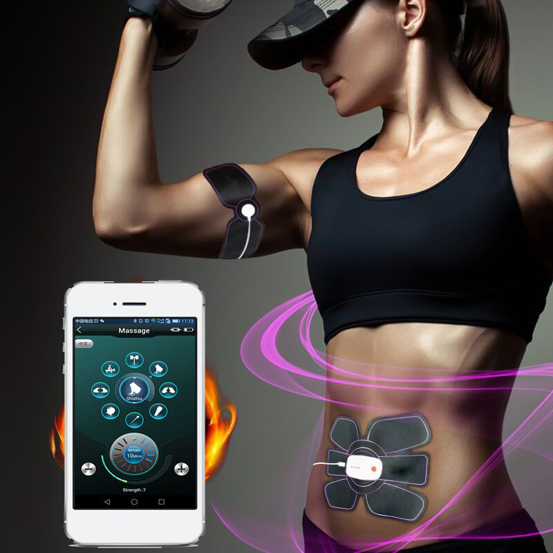 Smart App Multi-function Electric Pulse Treatment Body Massager Abdominal Muscle Trainer Stimulator Intensive Slimming Tool 30 2017 hot sale mini electric massager digital pulse therapy muscle full body massager silver
