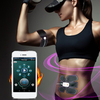 Smart App Multi Function Electric Pulse Treatment Body Massager Abdominal Muscle Trainer Stimulator Intensive Slimming Tool