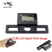 TL90 LCD Digital Pitch Gauge righello strumento di misura per T-REX 250 450 500 550 600 700 Sistema Rotore RC Elicottero(China)