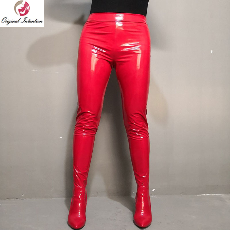 Original Intention Fashion Women Long Pants Thigh High Boots Winter High Heels Pointed Toe Sexy Woman Boots 8 Color Big Size.