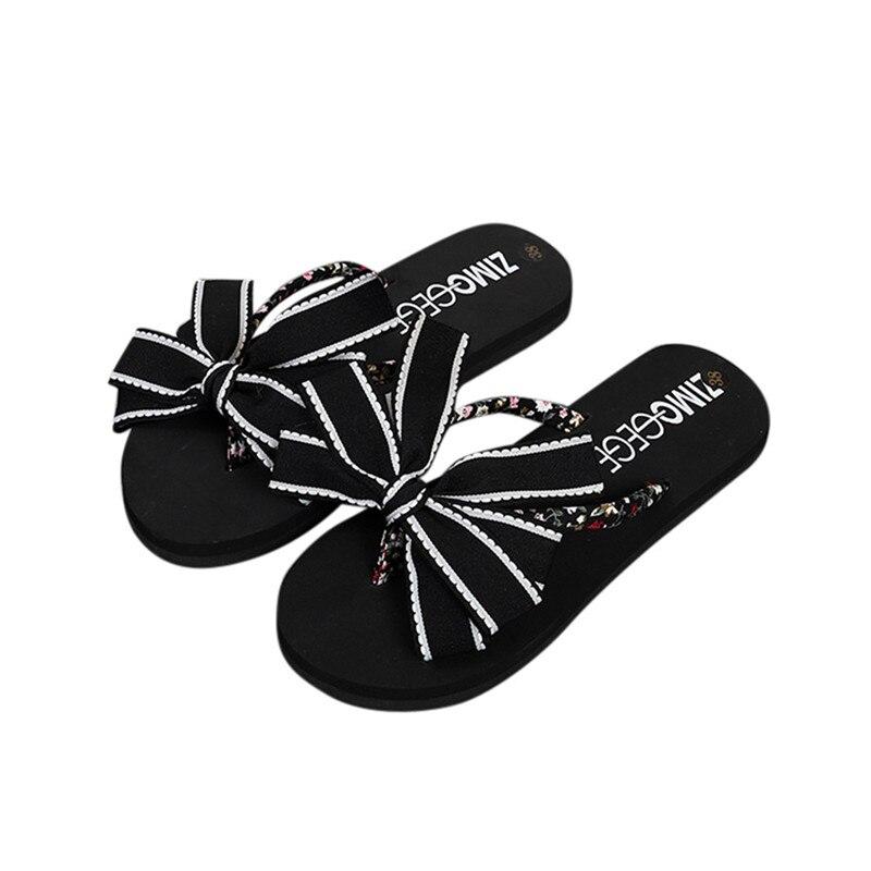 2018 Bow Knot Summer Shoes Woman Indoor Outdoor Flip Flops Women Sandals Ladies Flat Slippers Zapatos Mujer Sapatos Femininos 2018 bow knot summer shoes woman indoor outdoor flip flops women sandals ladies flat slippers zapatos mujer sapatos femininos