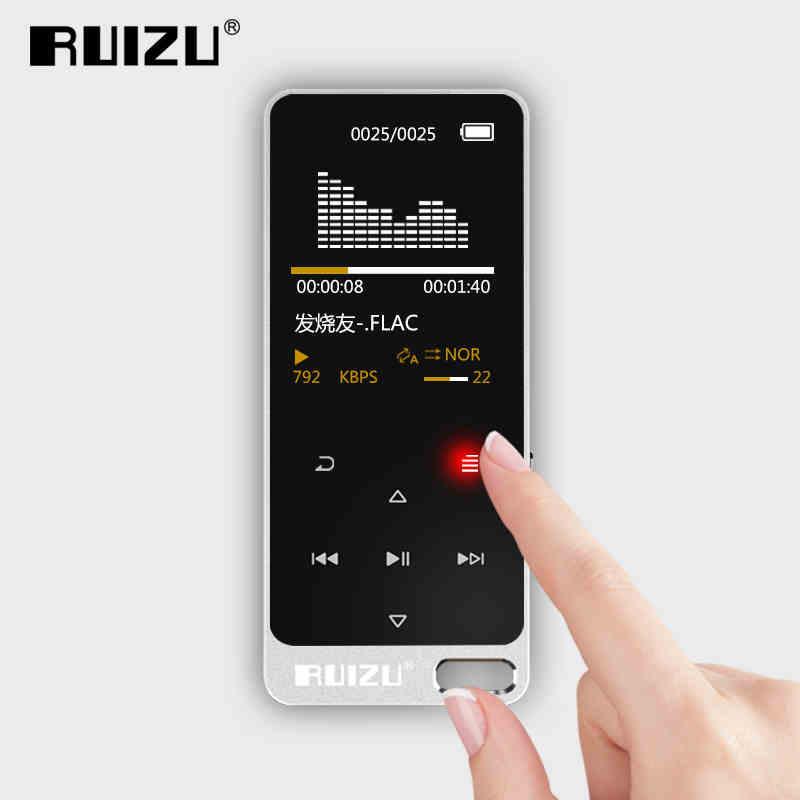 New RUIZU X05 Metal HIFI MP3 Player 8GB TFT Screen Touch Play 100h Lossless Sound Support FM,E-Book Recording Sport Mp3 Walkman