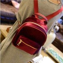 Veludo Doce Senhora Mini Backpack Para As Mulheres Adolescente Mochila Escolar Feminino Ruckasck(China (Mainland))