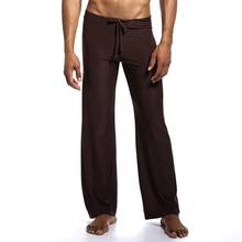 BZEL 2019 New Mens Lounge Pants Silk Satin Men