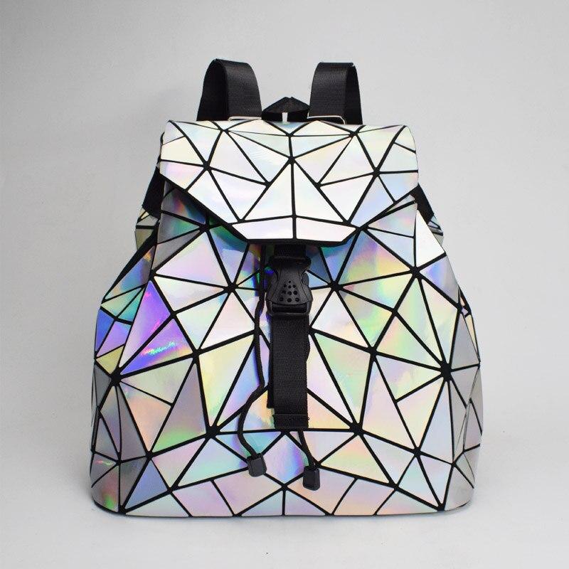 Colorful Backpacks Drawstring Geometric Teenage Girls Female New Women for Holographic