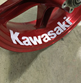 Kawasaki ZX-6R ZX-9R ZX-10R ZX-12R Z1000 Z800 Z750 636 Motorcycle Wheel Sticker Decal Reflective Rim Bike Motorcycle Suitable