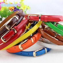 Casual Brand Multicolor Waist Fine Belt Women PU Leather Candy Color Luxury Girl Belts For Female Simple Buckle Ladies Waistband