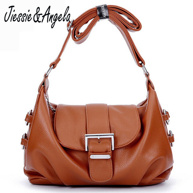 Jiessie & Angela Casual New bags for women bolsa feminina shoulders bags famous brand purses and handbags leather women bag