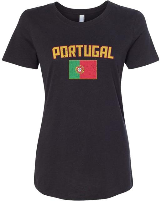 b467679a Women's Portugal Flag T-shirt Portuguese Lisbon Soccerer Harajuku Brand  Women Tops Hiphop Women T