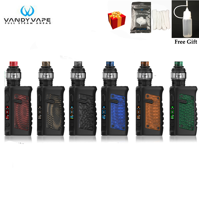 Original Vandy Vape Jackaroo Kit SUBTANK System With 100W Vandyvape JACKAROO Mod Waterproof Electronic Cigarette no