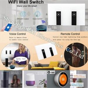 """Image 5 - Ewelink סטנדרטי בארה""""ב 1 2 3 כנופיית אור קיר מתג אפליקציה, לוח בקרת מגע, wifi שליטה מרחוק באמצעות טלפון חכם, לעבוד עם Alexa"""
