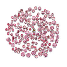 Mix SIX SIZE Mix Pink Diamond shape Glass Crystal rhinestones with claw Diy  wedding dress accessories 200PCS PIECE 6c6a0a5fa5a9