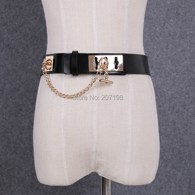 Женщина Серебро, платье, пояс полная Кожа PU H Марка дизайн cinto feminino Золото Металлические Цепи Блокировки женщин Пояса джинсов